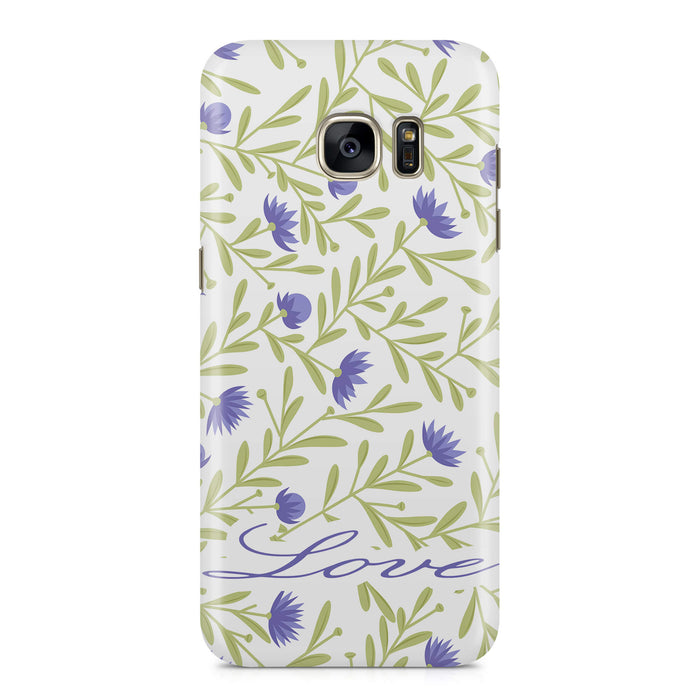 Floral Design with Name Samsung Galaxy S7 Edge 3D Custom Phone Case variant 9