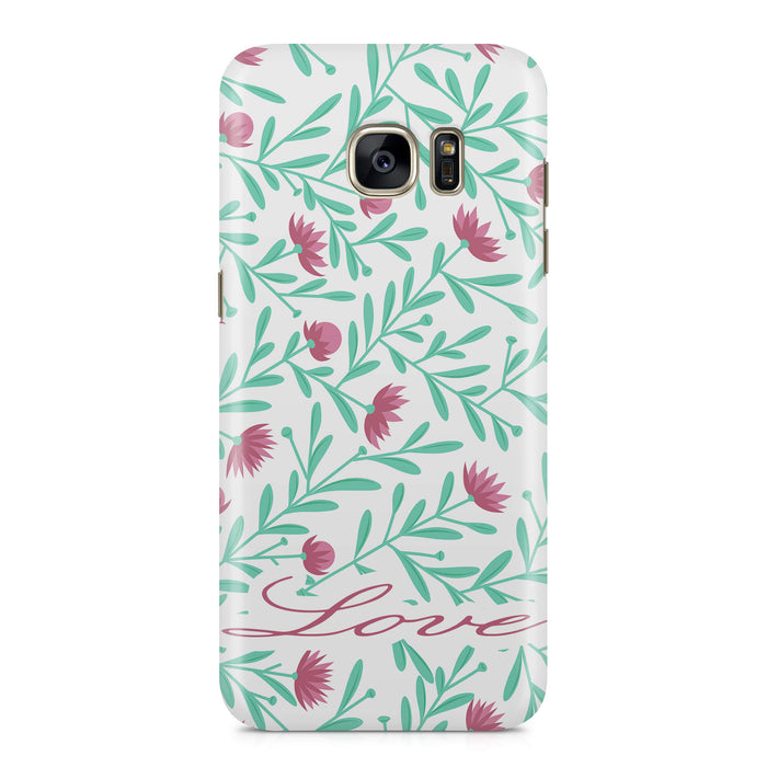 Floral Design with Name Samsung Galaxy S7 Edge 3D Custom Phone Case variant 5
