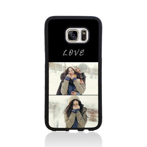 2 Photo Collage - Galaxy S7 Edge Black Rubber Phone Case