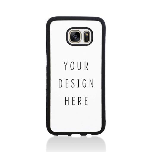 Design Your Own Galaxy S7 Edge Black Rubber Phone Case