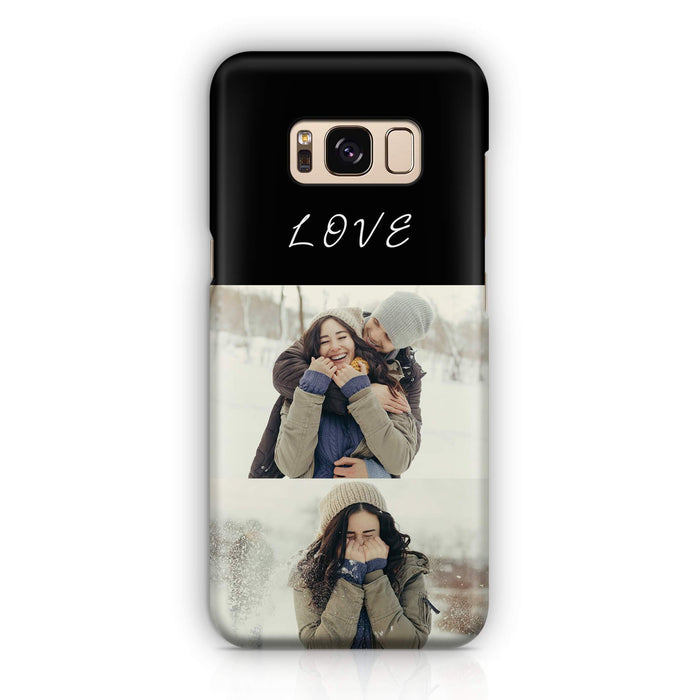 2 Photo Collage - Galaxy S8 3D Personalised Phone Case design-your-gift.