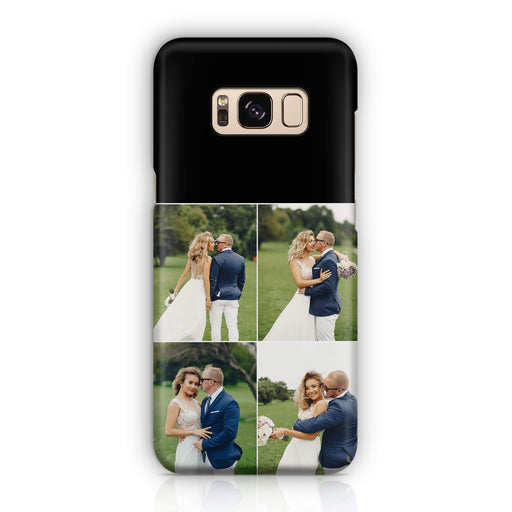 4 Photo Collage Samsung Galaxy S8 3D Personalised Phone Case designyourgift.co.uk
