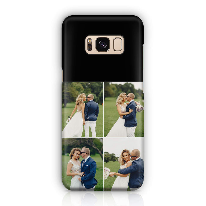 4 Photo Collage - Galaxy S8 3D Personalised Phone Case design-your-gift.