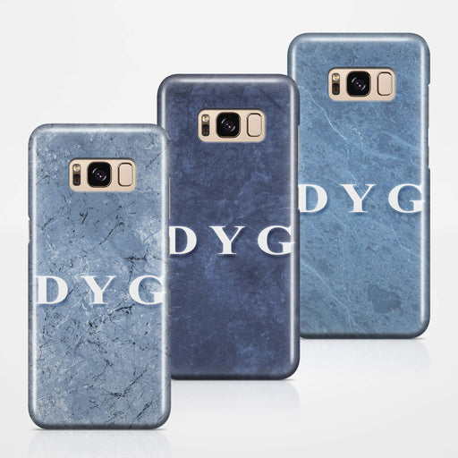 Blue Marble With Initials Samsung Galaxy S8 3D Custom Phone Case 3 variants