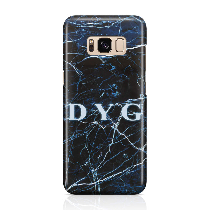 Dark Marble With Initials Samsung Galaxy S8 3D Custom Phone Case dark sea