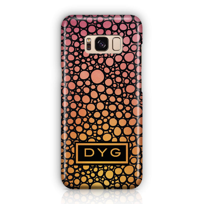 Bubbles Hollow with initials - Galaxy S8 3D Personalised Phone Case design-your-gift.