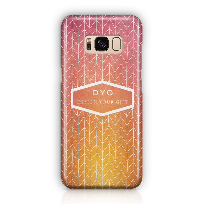 ZigZag Ombre With Text - Galaxy 3D Personalised Phone Case design-your-gift.