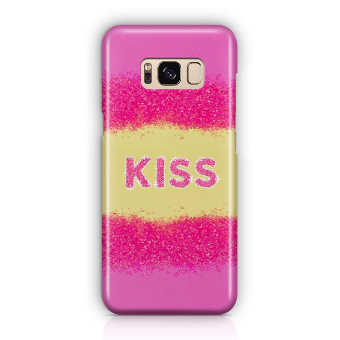 Glam Kiss Design with Name Samsung Galaxy S8 3D Custom Phone Case