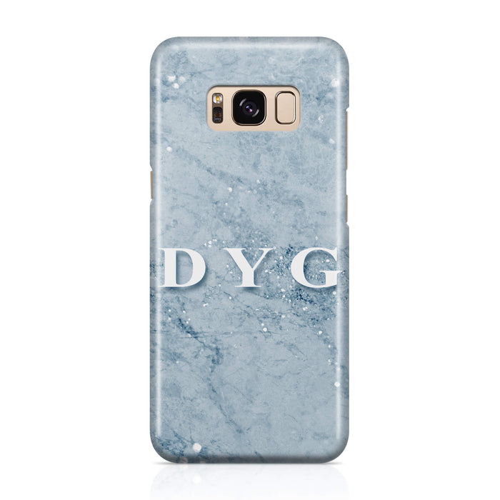 Sparkle Marble With Initial - Galaxy 3D Personalised Phone Case design-your-gift.