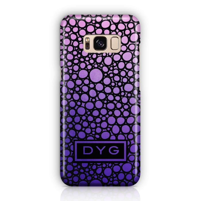 Bubbles Hollow with initials - Galaxy 3D Personalised Phone Case design-your-gift.