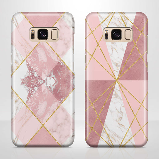 Rose Marble & Geometric Patterns Samsung Galaxy S8 3D Phone Case variants