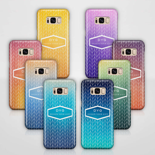 ZigZag Ombre With Text Samsung Galaxy S8 3D Personalised Phone Case variants
