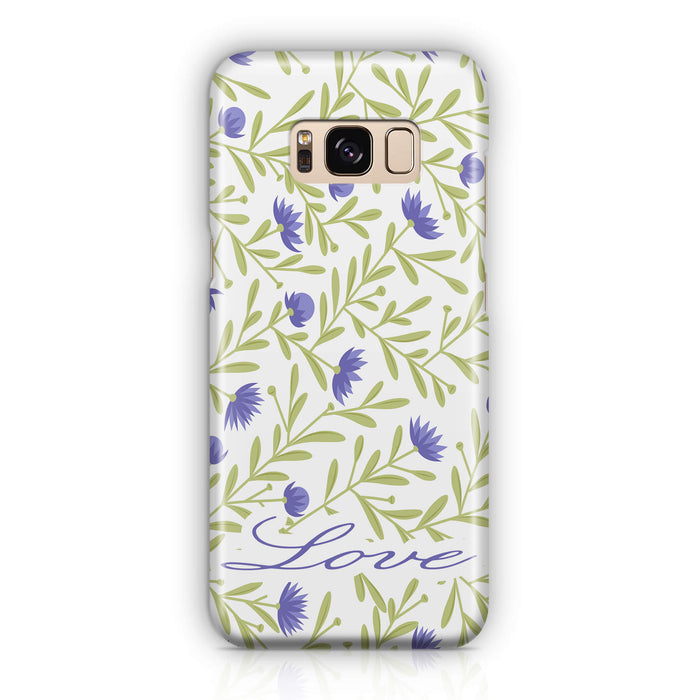 Floral Design with Name - Galaxy 3D Custom Phone Case design-your-gift.