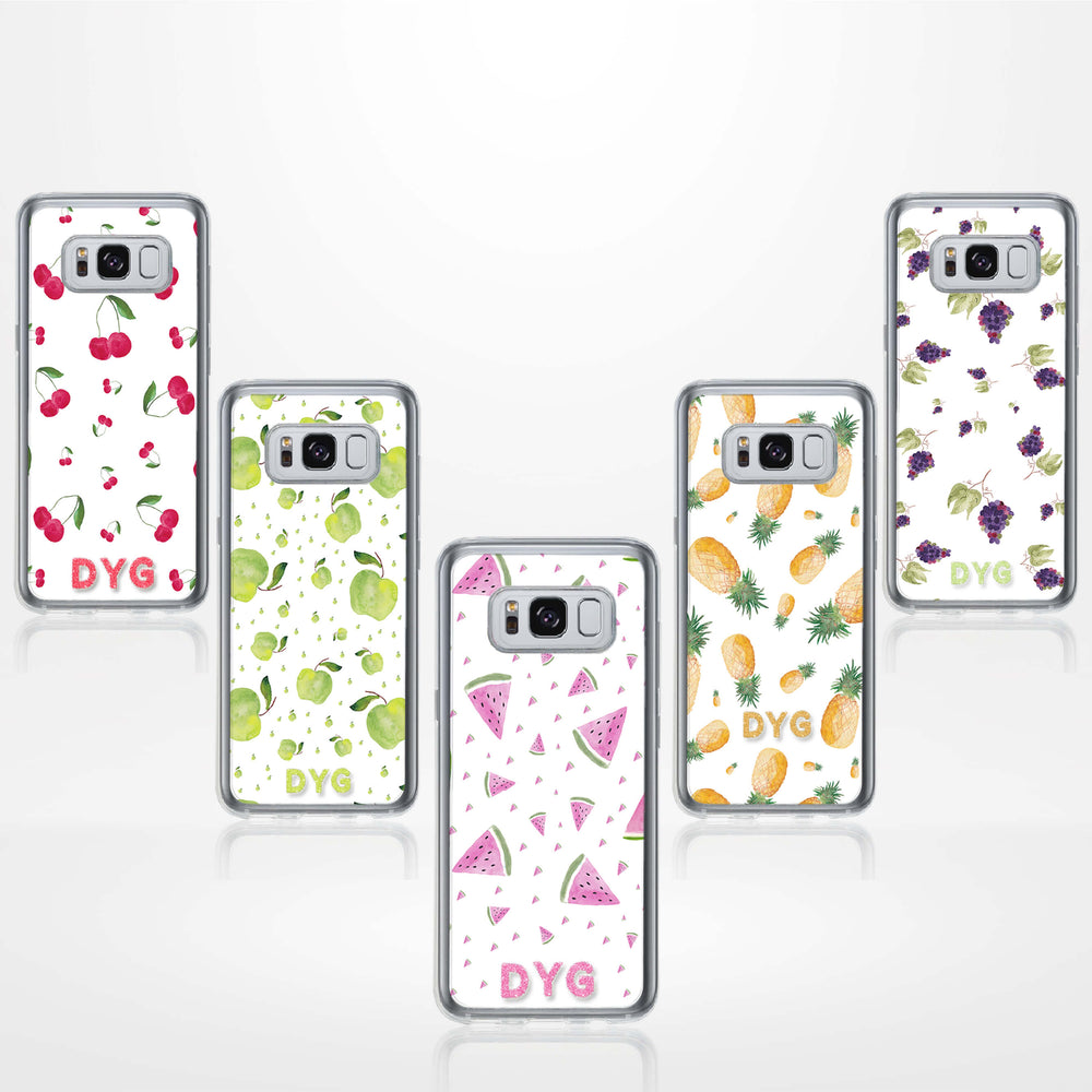 Fruity Design with Initials - Galaxy S8 Clear Phone Case design-your-gift.
