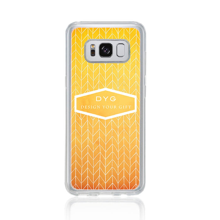 ZigZag Ombre with your Text - Galaxy S8 Clear Phone Case design-your-gift.