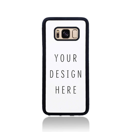Design Your Own Galaxy Black Rubber Phone Case design-your-gift.