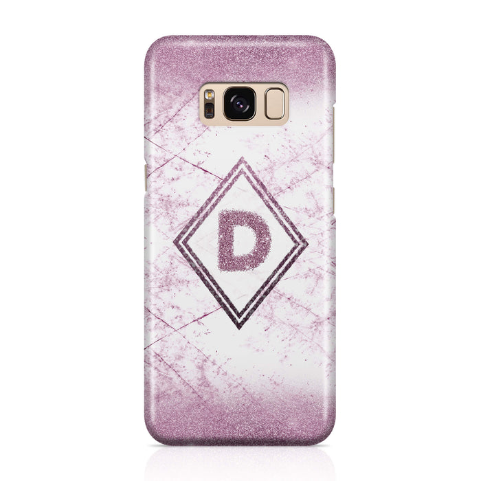 luxury Marble & Glitter With Initial - Galaxy S8 Plus 3D Custom Case design-your-gift.