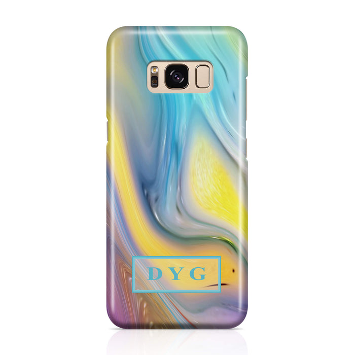 Liquid Marble With Initials Samsung Galaxy S8+ 3D Personalised Phone Case sun wave