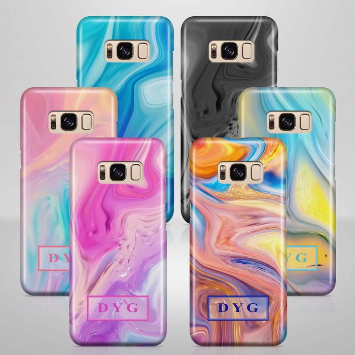 Liquid Marble With Initials Samsung Galaxy S8+ 3D Personalised Phone Case Variants