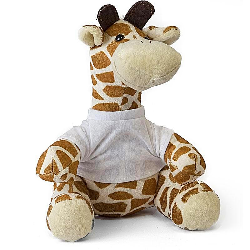 Personalised Giraffe Teddy design-your-gift.