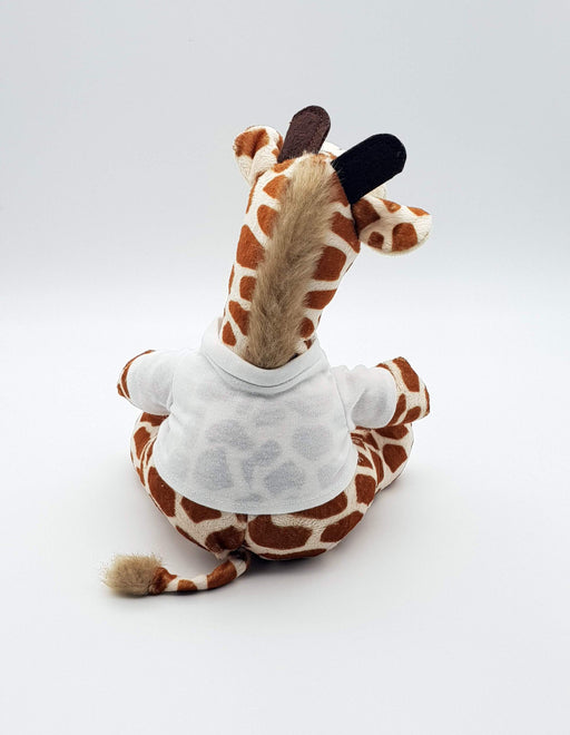 Personalised Giraffe Teddy back