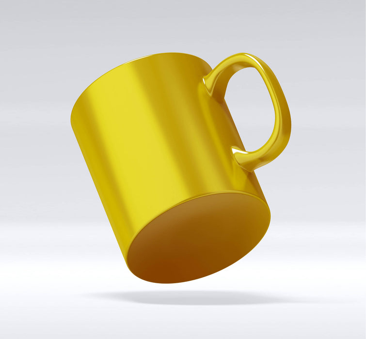 gold mug base view