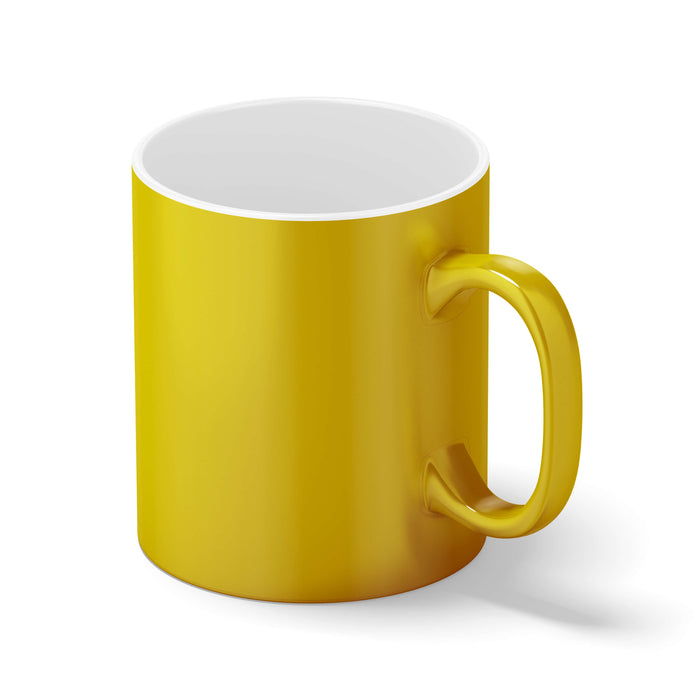 gold mug back view