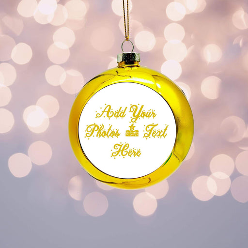 Personalised Christmas Bauble | Gold design-your-gift.