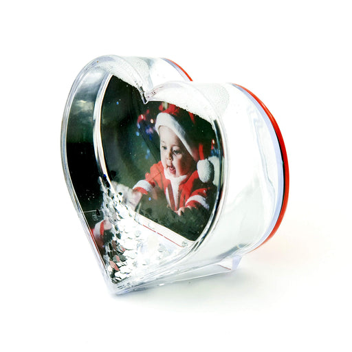 Heart Christmas Photo Globe With Glitter & Hearts design-your-gift.