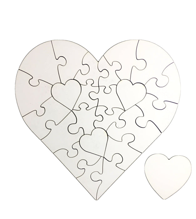 Blank Heart Photo Puzzle