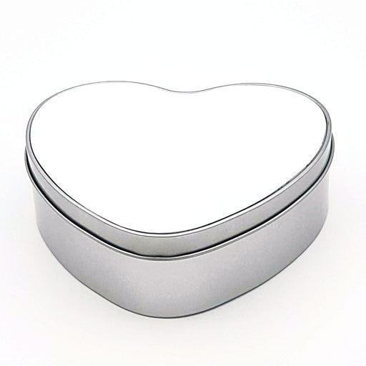 Blank heart-shaped personalised tin Box mad of aluminium