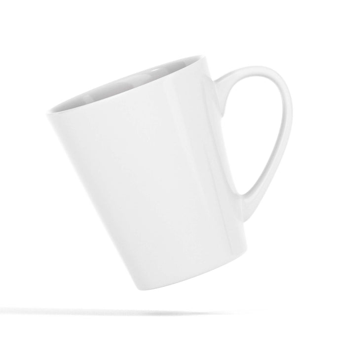 Personalised White 12oz Latte Mug with comfortable handle