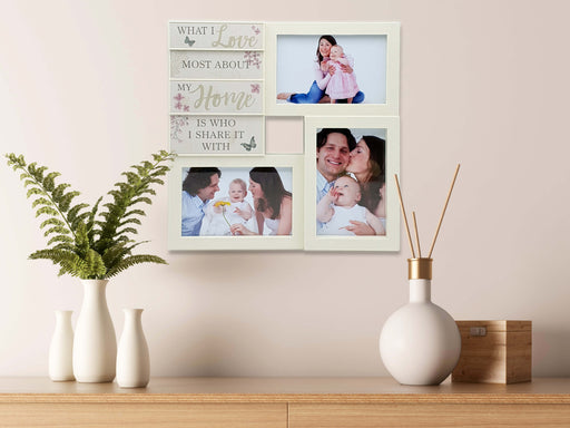 Les Fleurs - Multi-Photo Wall frame | 3 Picture Frame design-your-gift.