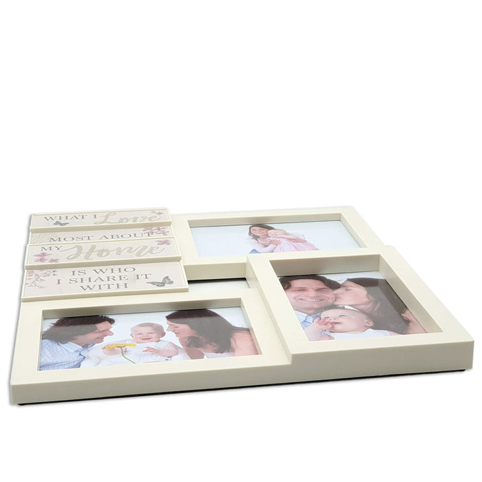 Les Fleurs Multi-Photo Wall frame side view