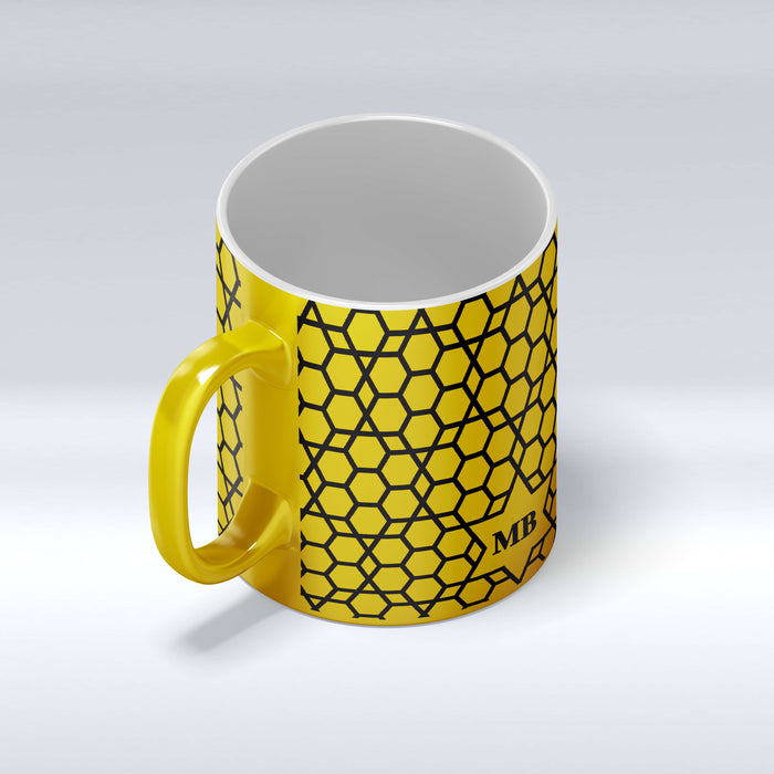 Initials Mug - Moroccan Pattern Design | Gold Mugs and Silver Mugs design-your-gift.