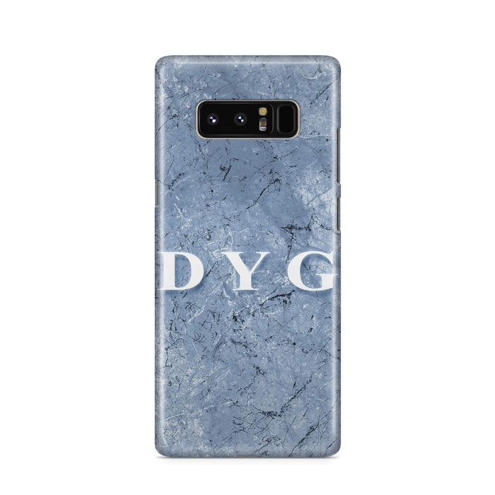 Blue Marble With Initials Samsung Galaxy Note 8 3D Custom Phone Case blue cave