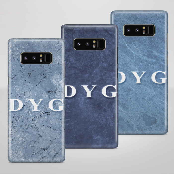 Blue Marble With Initials Samsung Galaxy Note 8 3D Custom Phone Case 3 variants