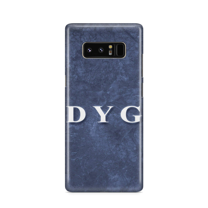 Blue Marble With Initials Samsung Galaxy Note 8 3D Custom Phone Case blue noir