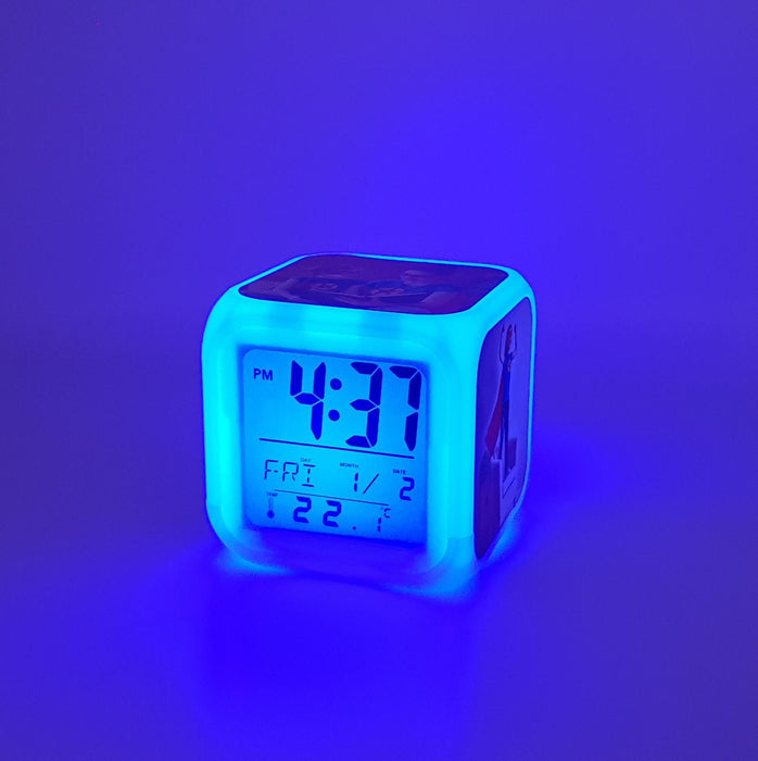 Children's Personalised Alarm Clock with blue LED light
