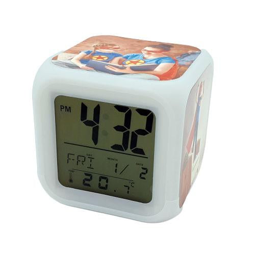 Children's Personalised Alarm Clock front