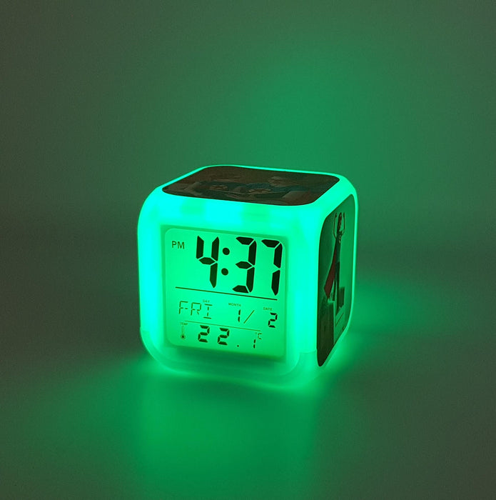 Children's Personalised Alarm Clock with green LED light
