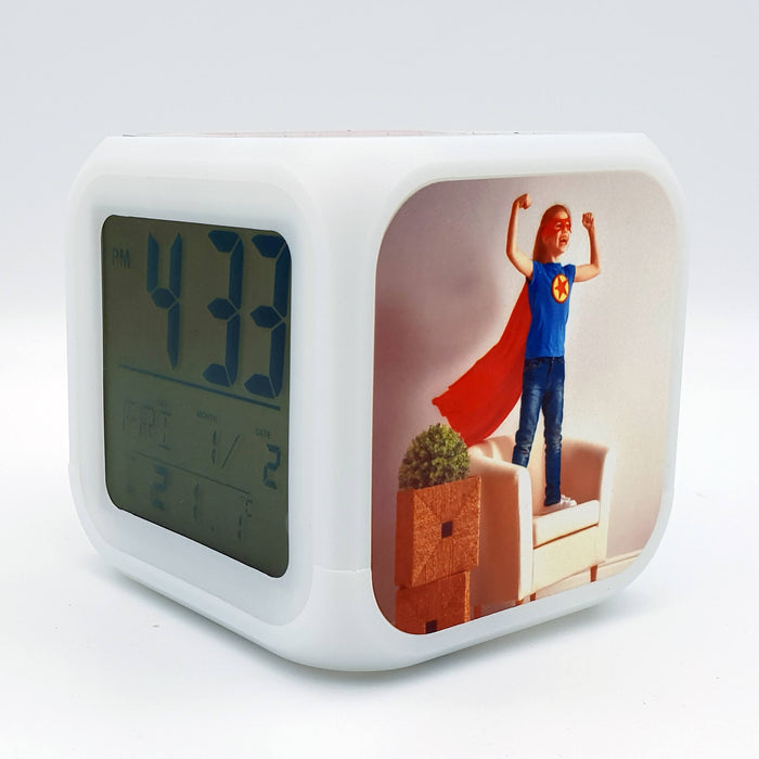 Children's Personalised Alarm Clock side 1