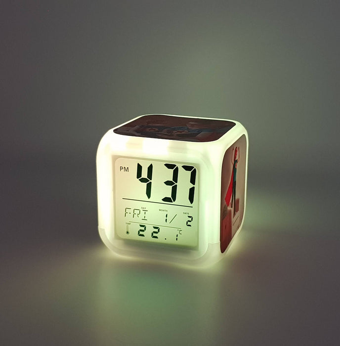 Children's Personalised Alarm Clock with white LED light