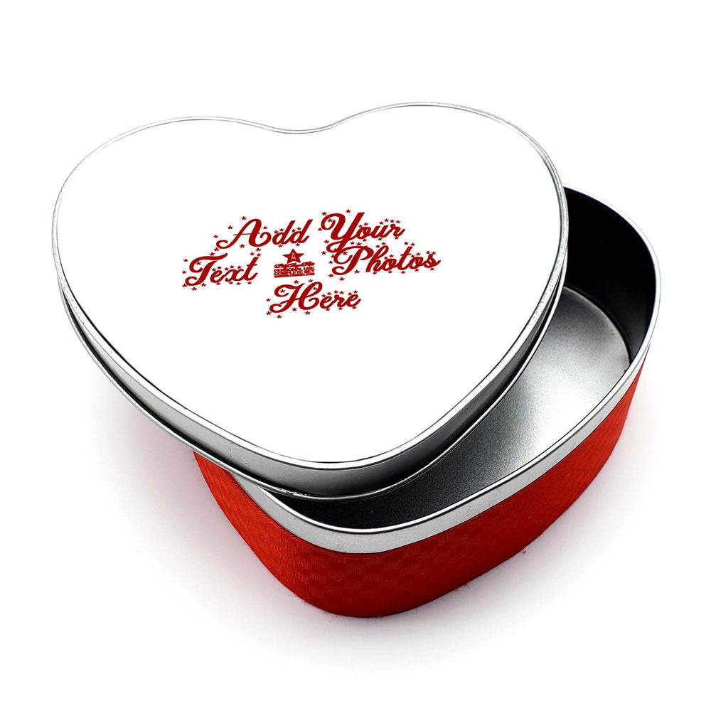 Personalised Christmas Tin - Heart Shaped design-your-gift.