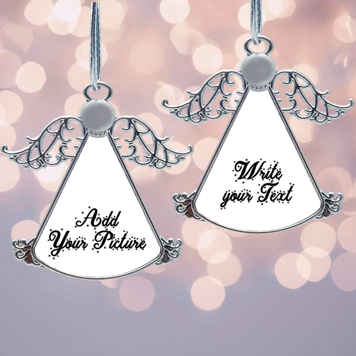 Personalised Christmas Tree Decoration - Angel Ornament design-your-gift.