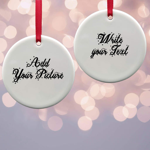 Personalised Christmas Tree Decoration - Round Ceramic Ornaments design-your-gift.
