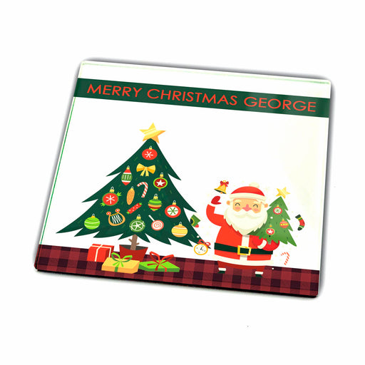 Personalised Glass Coaster - Christmas Greetings design-your-gift.