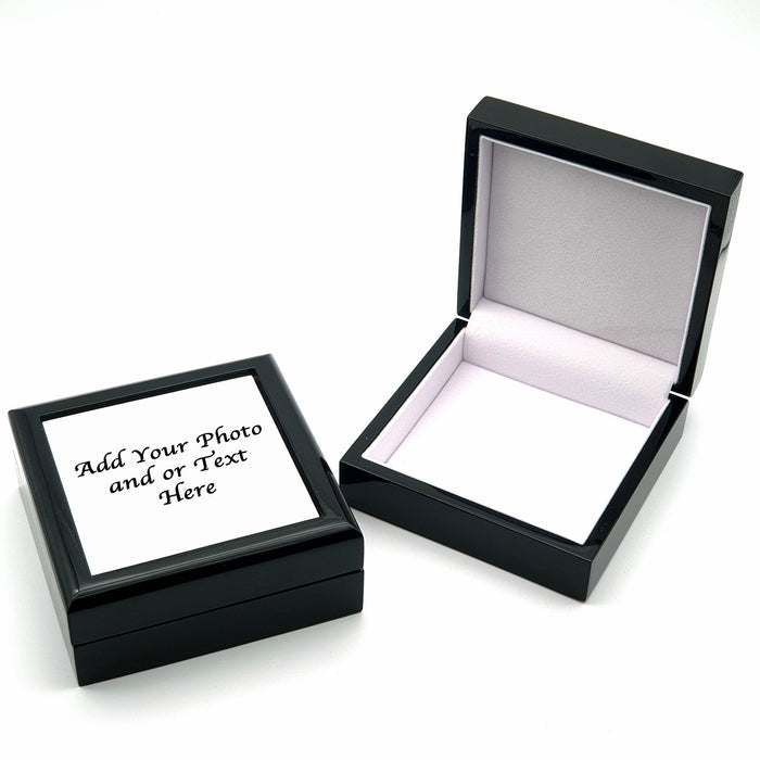 Large Personalised Jewellery Box - Black design-your-gift.