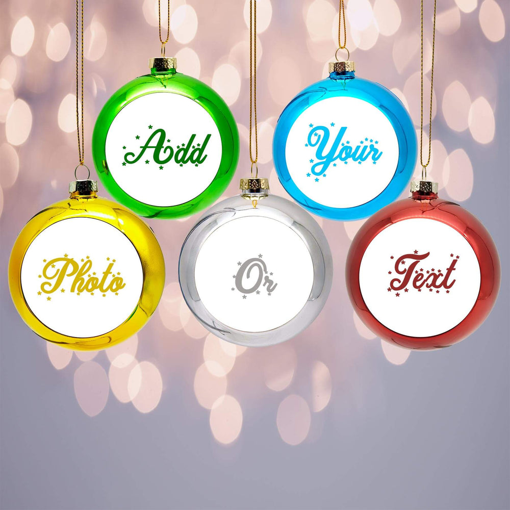 Personalised Christmas Baubles | Set of 5 design-your-gift.