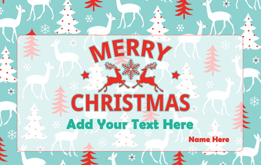 Personalised rectangle Christmas Tin with text design-your-gift.